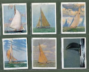 Tobacco cigarette cards Racing Yachts 1938 set of 25
